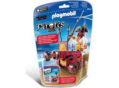 Playmobil 6163 Mořský lupič s interaktivním červeným kanónem