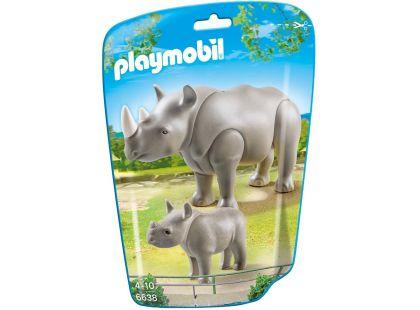 Playmobil 6638 Nosorožec s mládětem