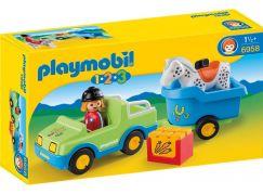 Playmobil 6958 Auto s koňským přívěsem