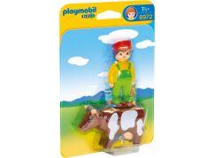 Playmobil 6972 Farmář s kravičkou