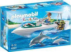 Playmobil 6981 Sportovní člun s potapěčem a delfíny