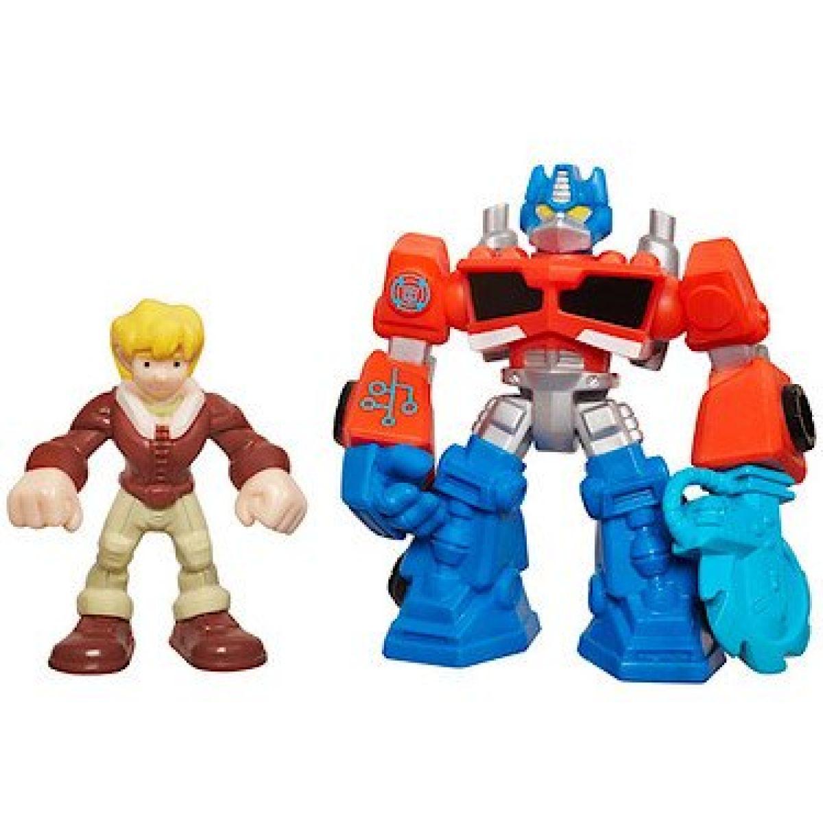 Playskool Transformers Rescude Dino-Bots 2 figurky - Optimus Prime a Cody Burns