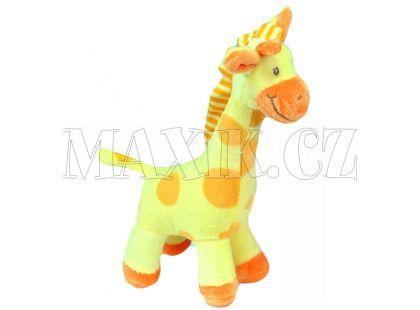 Plyšová žirafa stojící 24cm - Žlutá