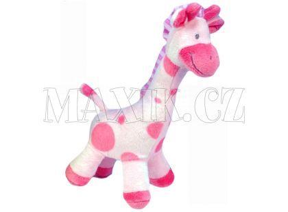 Plyšová žirafa stojící 24cm - Růžová