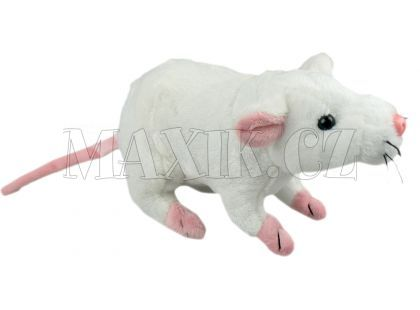 Plyšová Krysa 20cm - Bílá