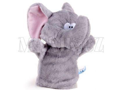 Plyšový maňásek Zvířátko - Slon