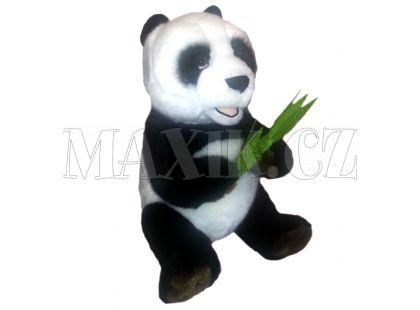 Plyšová panda s listem 28cm
