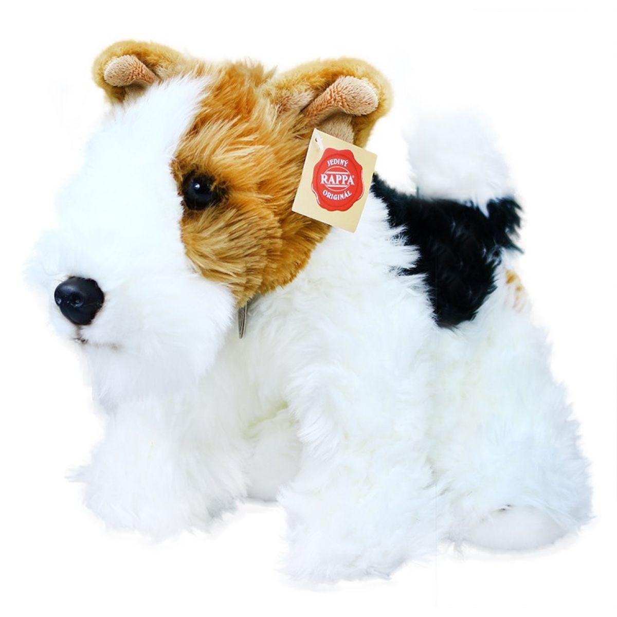 Rappa Plyšový pes foxteriér Dášenka 30cm