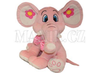 Plyšový slon 68cm - Růžový