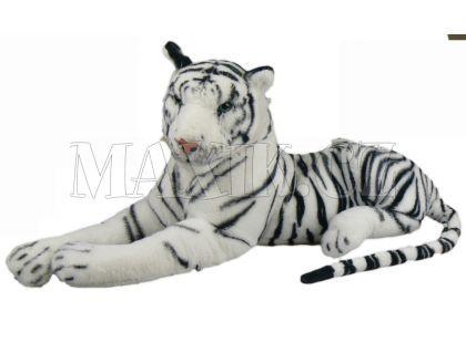 Plyšový tygr bílý 80cm