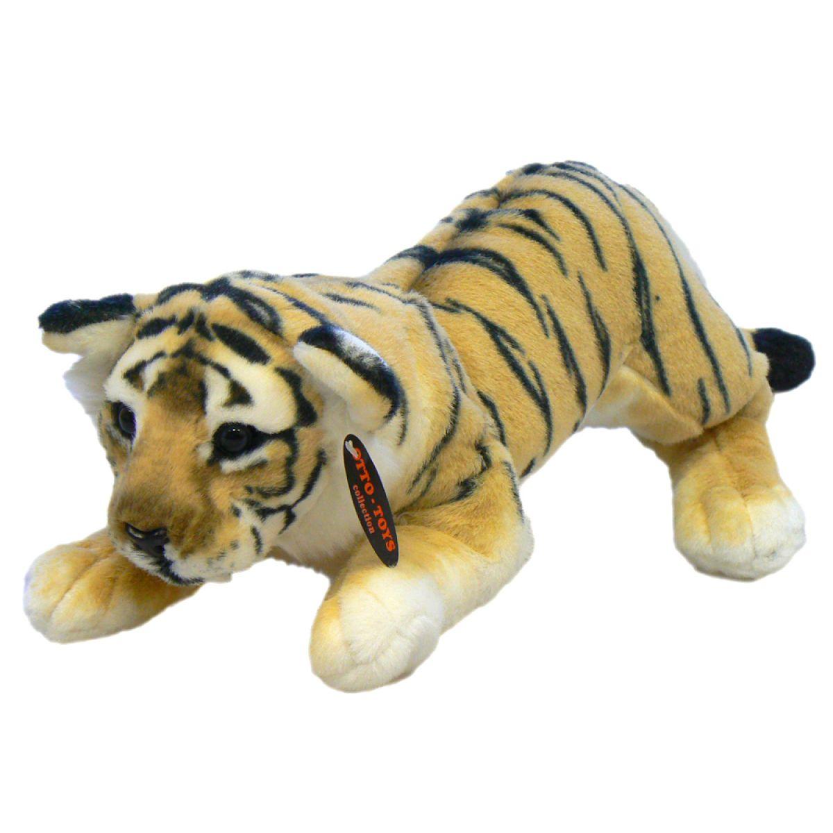 Plyšový tygr ležící 48cm