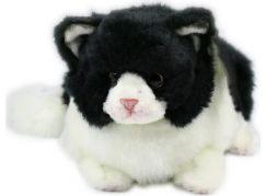 Plyš Kočka černo-bílá