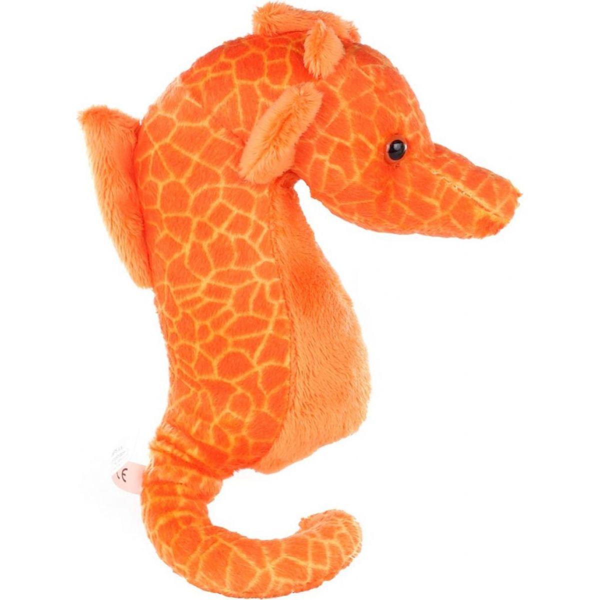 Plyš Mořský koník oranžový 24 cm