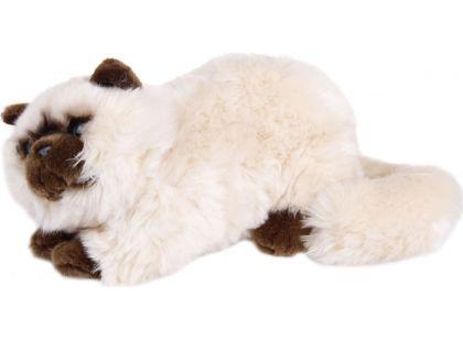 Plyšová kočka 38 cm - Béžová