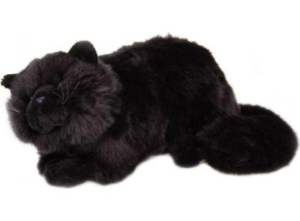 Plyšová kočka 38 cm - Černá