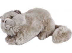 Plyšová kočka 38 cm - Šedá