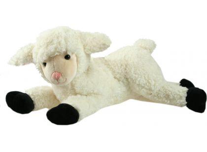 Plyšová Ovečka ležící velká 43cm - Bíločerná
