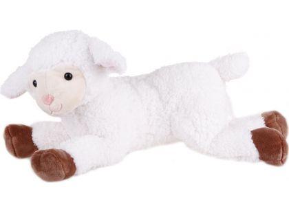 Plyšová Ovečka ležící velká 43cm - Bílohnědá