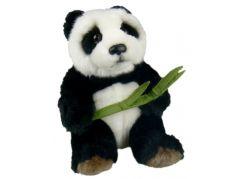 Plyšová panda s listem 16cm