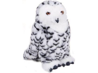 Plyšová sova sněžná 25cm