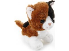 Plyšové zvířátko Hnědá kočička 17cm