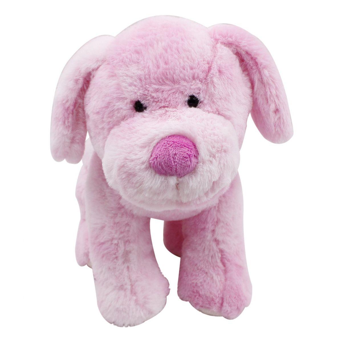 Plyšové zvířátko Růžový pejsek 30cm