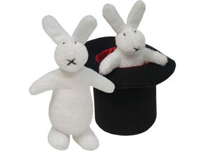 Plyšoví králíci Bob a Bobek s kloboukem