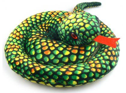 Plyšový Had zelený 110cm
