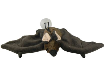 Plyšový netopýr s přísavkou 24cm - Hnědá tmavá