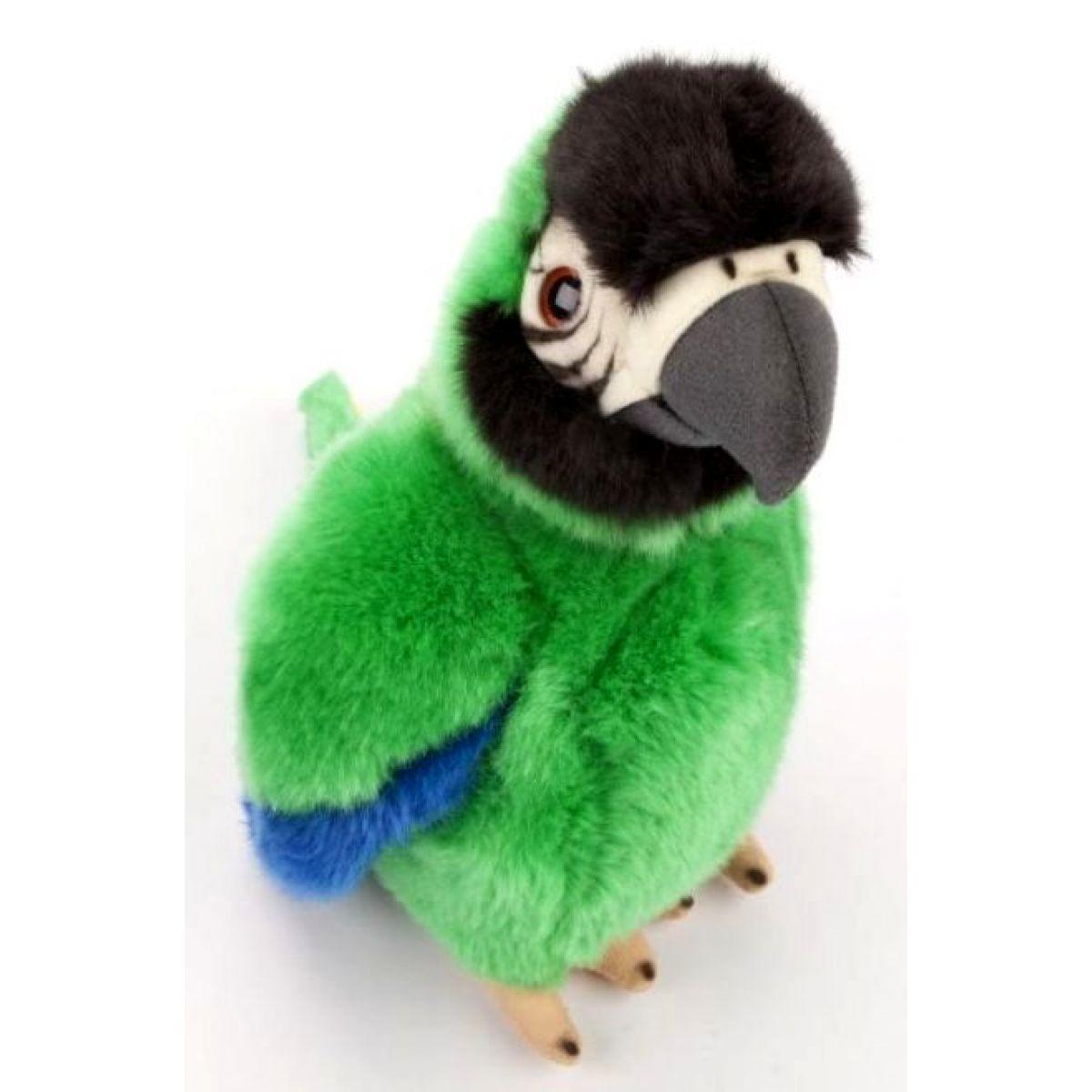 Plyšový papoušek 27 cm zelený
