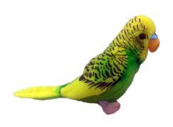 Plyšový papoušek Andulka 11cm