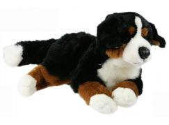 Plyšový pes bernský ležící 40cm