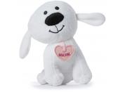 Plyšový pes Maxík malý 15cm srdíčko růžové