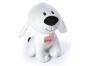 Plyšový pes Maxík velký 30cm srdíčko růžové 2