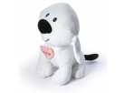 Plyšový pes Maxík velký 30cm srdíčko růžové 3