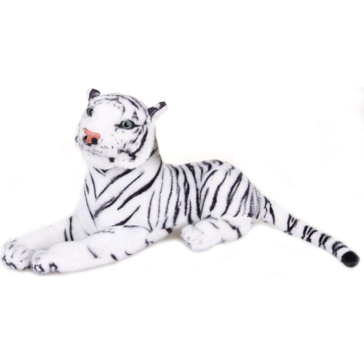 Plyšový tygr bílý střední 57 cm