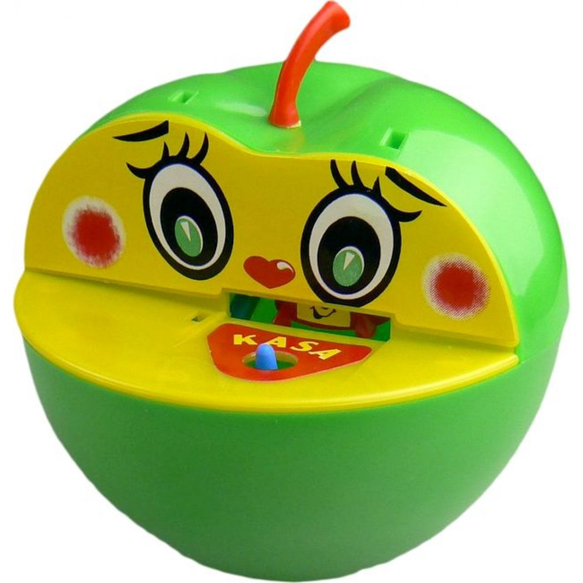 Pokladnička jablko plast 16x10cm - Zelená