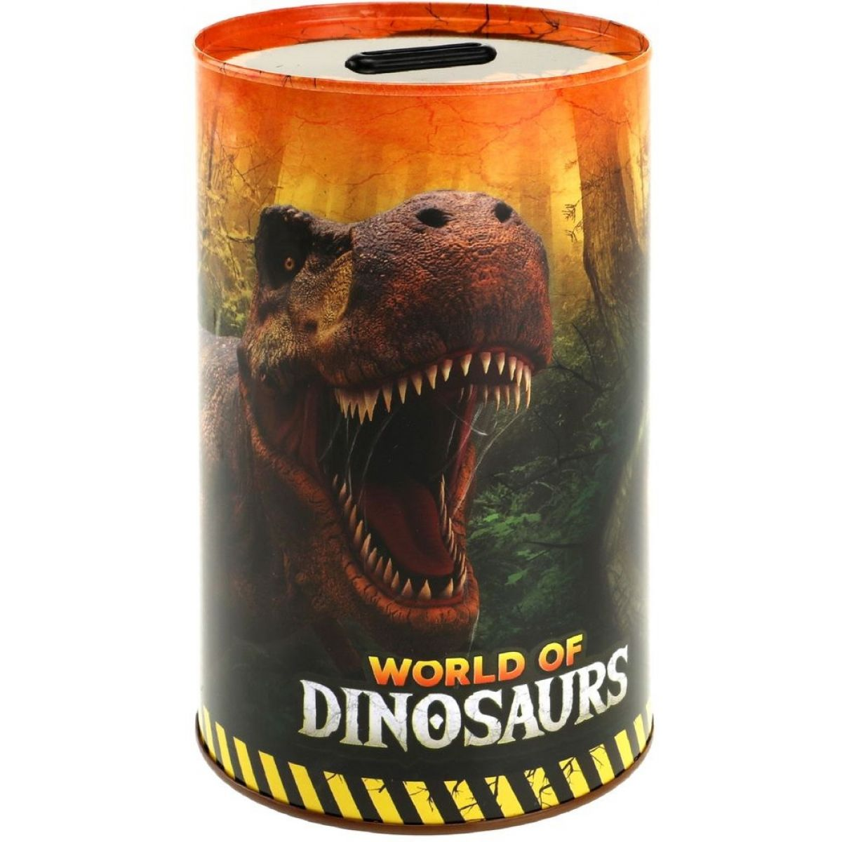 Pokladnička plechový dinosaurus