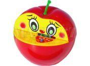 Pokladnička jablko plast 16x10cm - Červená