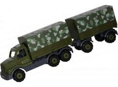 Polesie Auto Prestiž s přívěsem Vojenská plachtová korba