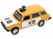 Policejní auto VB combi kov-plast 11,5cm na zpětné natažení na baterie se zvukem v krabičce 15x7x7cm