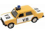 Policejní auto VB kov-plast 11,5cm na zpětné natažení na baterie se zvukem v krabičce 15x7x7cm