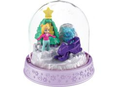 Polly Pocket sněhová koule světle fialová