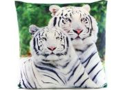 Polštářek bílý tygr 33 x 33 cm