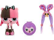 Pop Pop Hair Surprise 3-in-1 Pops 1. series černo-růžové vlasy s mašlí
