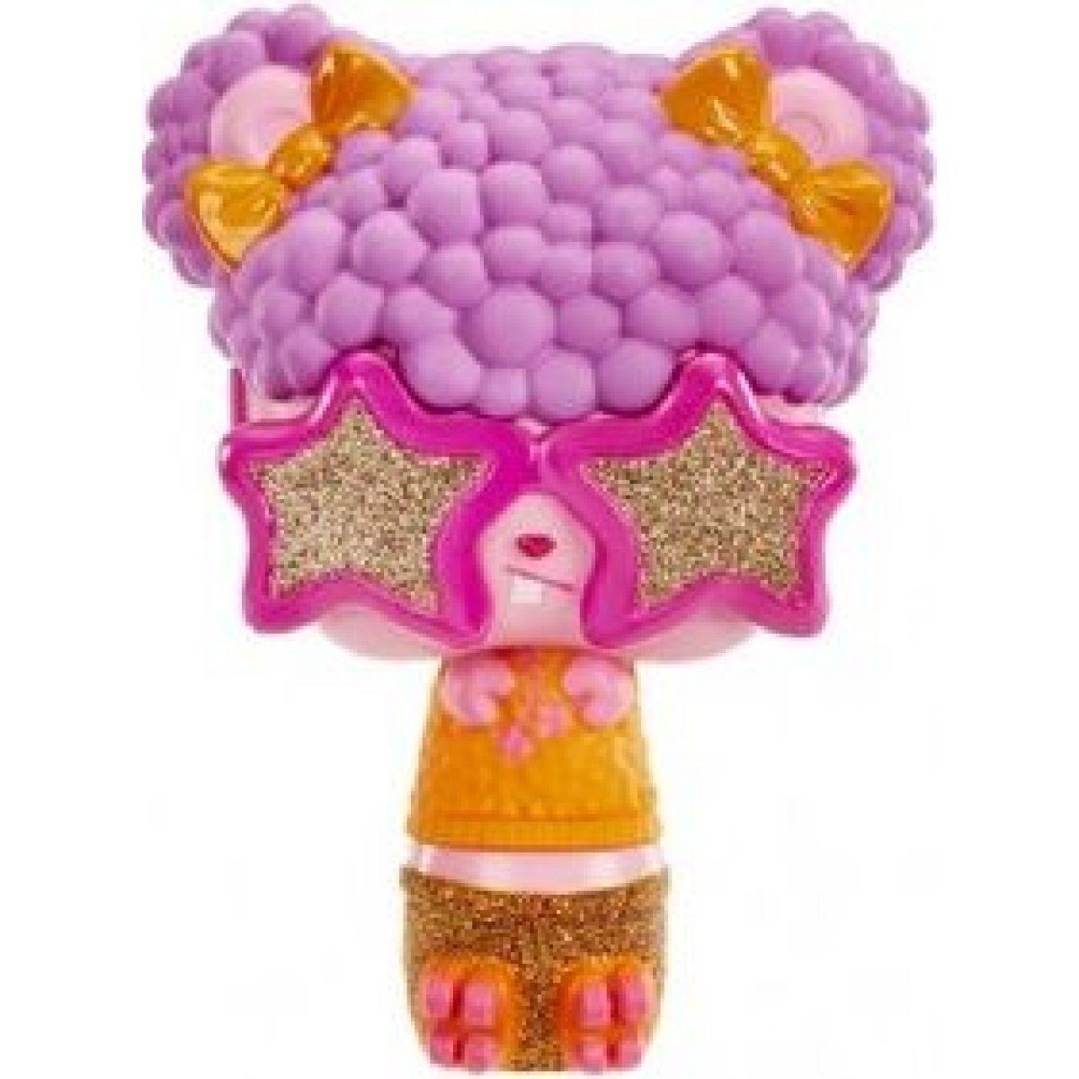 Pop Pop Hair Surprise 3-in-1 Pops 1. series růžové brýle, fialové vlasy