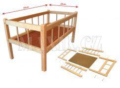 Postýlka dřevěná velká 50x28cm