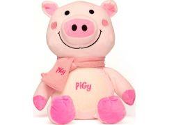 Prasátko Pigy plyš s růžovou šálou 30,5 cm