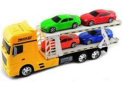 Přepravník aut žlutý 45 cm