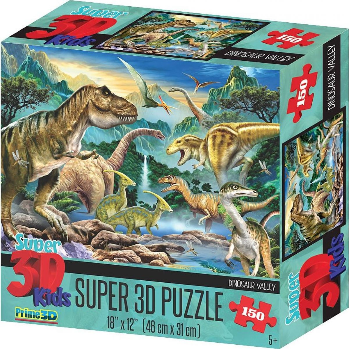 Prime 3D Puzzle Údolí dinosaurů 150 dílků